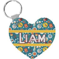 Rocket Science Heart Keychain (Personalized)