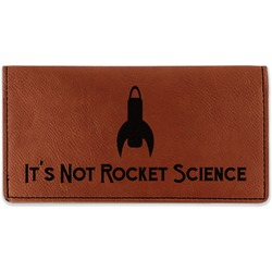 Rocket Science Leatherette Checkbook Holder (Personalized)