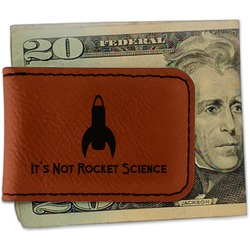 Rocket Science Leatherette Magnetic Money Clip (Personalized)