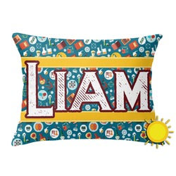 Rocket Science Outdoor Throw Pillow (Rectangular) (Personalized)