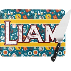 Rocket Science Rectangular Glass Cutting Board (Personalized)
