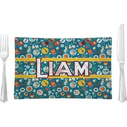 Rocket Science Rectangular Glass Lunch / Dinner Plate - Single or Set (Personalized)