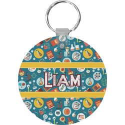 Rocket Science Round Keychain (Personalized)