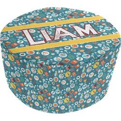Rocket Science Round Pouf Ottoman (Personalized)