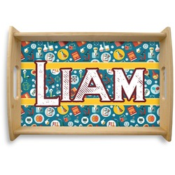 Rocket Science Natural Wooden Tray (Personalized)