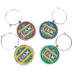 Rocket Science Wine Charms (Set of 4) (Personalized)