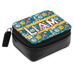 Rocket Science Small Leatherette Travel Pill Case (Personalized)