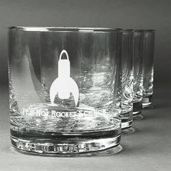 Rocket Science Whiskey Glasses (Set of 4) (Personalized)