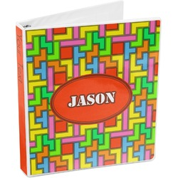 Tetris Print 3-Ring Binder (Personalized)