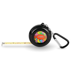 Tetris Print Pocket Tape Measure - 6 Ft w/ Carabiner Clip (Personalized)