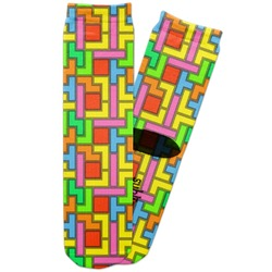 Tetris Print Adult Crew Socks (Personalized)