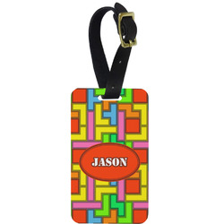 Tetris Print Aluminum Luggage Tag (Personalized)