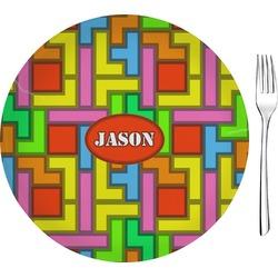 "Tetromino 8"" Glass Appetizer / Dessert Plates - Single or Set (Personalized)"