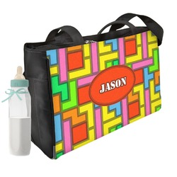 Tetris Print Diaper Bag (Personalized)