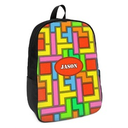 Tetris Print Kids Backpack (Personalized)