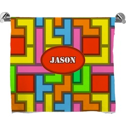 Tetris Print Full Print Bath Towel (Personalized)