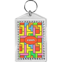 Tetris Print Bling Keychain (Personalized)