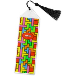 Tetris Print Book Mark w/Tassel (Personalized)
