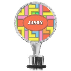 Tetris Print Wine Bottle Stopper (Personalized)