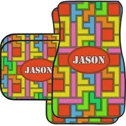 Tetris Print Car Floor Mats (Personalized)
