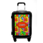 Tetromino Carry On Hard Shell Suitcase (Personalized)