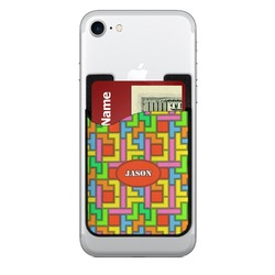 Tetris Print Cell Phone Credit Card Holder (Personalized)