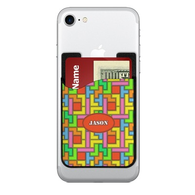Tetromino 2-in-1 Cell Phone Credit Card Holder & Screen Cleaner (Personalized)