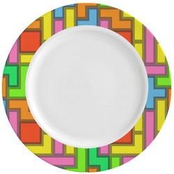 Tetromino Ceramic Dinner Plates (Set of 4) (Personalized)