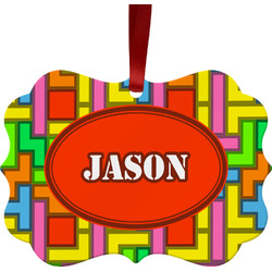 Tetris Print Ornament (Personalized)
