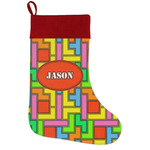 Tetromino Holiday / Christmas Stocking (Personalized)