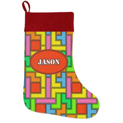 Tetris Print Holiday / Christmas Stocking (Personalized)