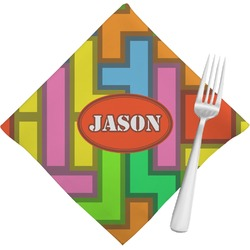 Tetris Print Napkins (Set of 4) (Personalized)