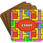 Tetromino Coaster Set w/ Stand (Personalized)