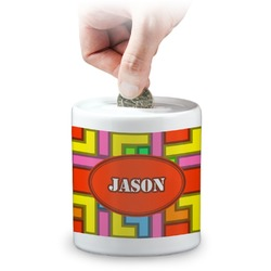 Tetris Print Coin Bank (Personalized)