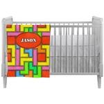 Tetromino Crib Comforter / Quilt (Personalized)
