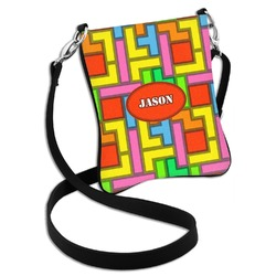 Tetris Print Cross Body Bag - 2 Sizes (Personalized)