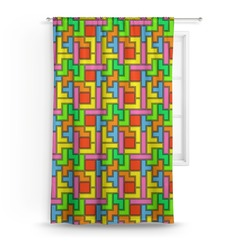 "Tetromino Curtain - 50""x84"" Panel (Personalized)"
