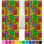 Tetris Print Curtains (2 Panels Per Set) (Personalized)
