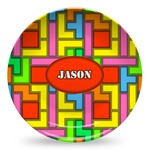 Tetromino Microwave Safe Plastic Plate - Composite Polymer (Personalized)