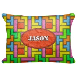 "Tetris Print Decorative Baby Pillowcase - 16""x12"" (Personalized)"