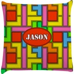 Tetris Print Decorative Pillow Case (Personalized)