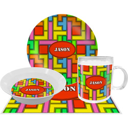 Tetromino Dinner Set - 4 Pc (Personalized)