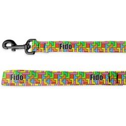 Tetris Print Deluxe Dog Leash (Personalized)