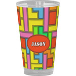 Tetromino Drinking / Pint Glass (Personalized)