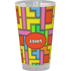 Tetris Print Drinking / Pint Glass (Personalized)