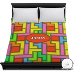 Tetris Print Duvet Cover (Personalized)