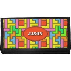 Tetris Print Canvas Checkbook Cover (Personalized)