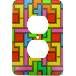 Tetromino Electric Outlet Plate (Personalized)
