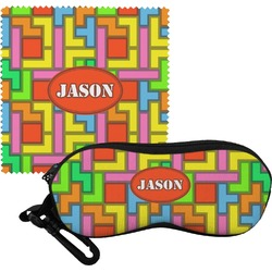 Tetris Print Eyeglass Case & Cloth (Personalized)
