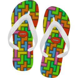 Tetris Print Flip Flops (Personalized)